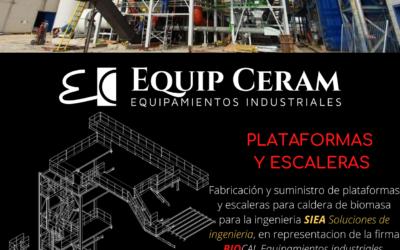 Plataformas y escaleras para caldera de biomasa
